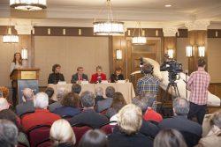Conférence de presse au lancement de la campagne Adoptez un béluga, novembre 2014 © Pierre Soulard